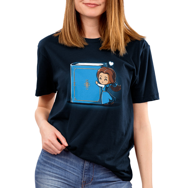 Belle Loves Reading Women's T-Shirt Model Disney TeeTurtle