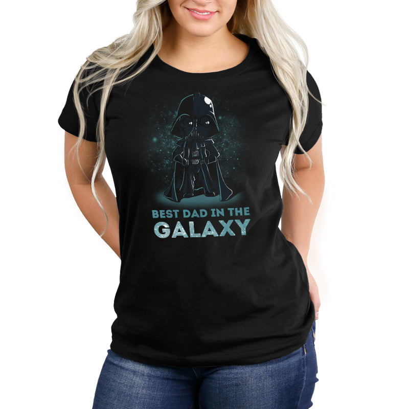 Best Dad in the Galaxy Women's Relaxed t-shirt model Star Wars TeeTurtle