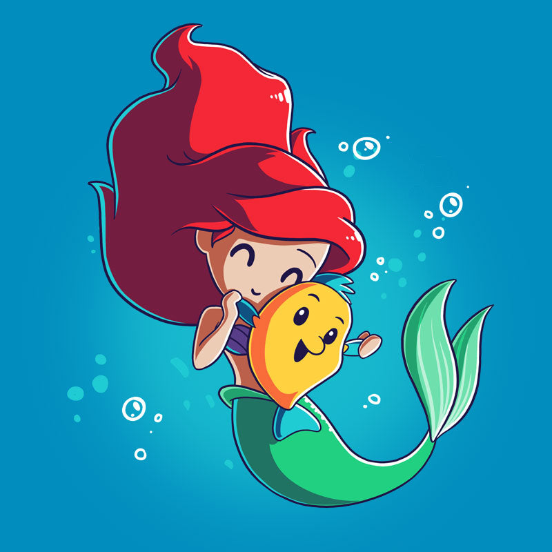BFFs (Ariel and Flounder) T-Shirt The Little Mermaid TeeTurtle
