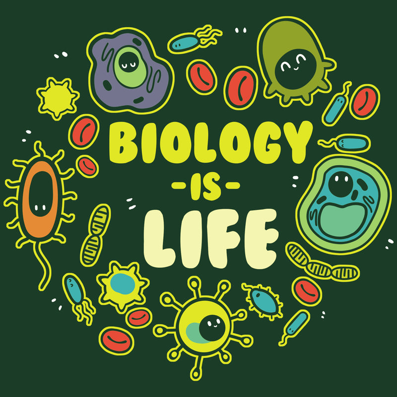 biology is life funny cute nerdy shirts teeturtle