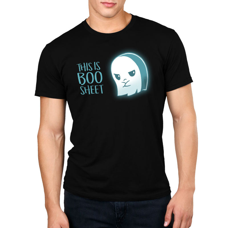 This is Boo Sheet Standard T-Shirt Model TeeTurtle