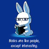 Books > People Blue t-shirt Tee Turtle