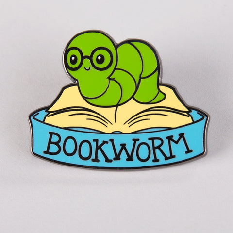 Bookworm Charm Pin TeeTurtle