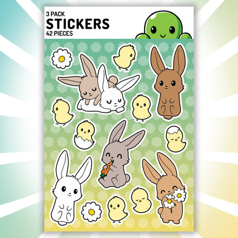 Bunnies Bunnies Bunnies Stickers TeeTurtle