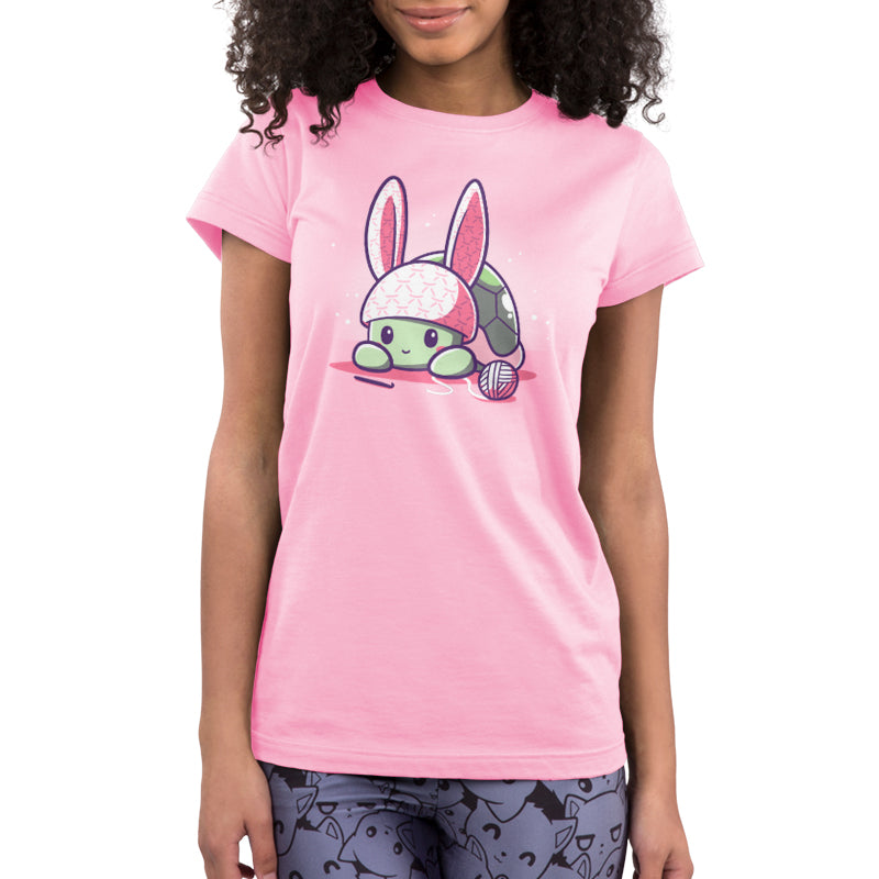 Bunny Ears Juniors T-Shirt Model TeeTurtle