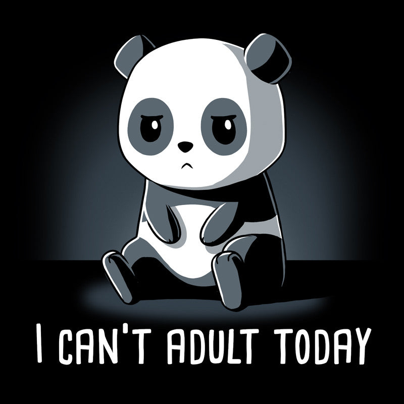Can't Adult Today Black t-shirt TeeTurtle