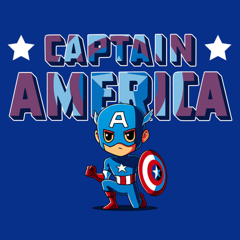 Captain America Shirt T-Shirt Marvel TeeTurtle