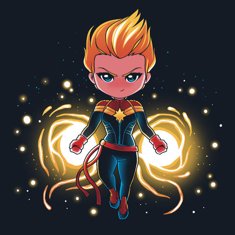 The Powerful Captain Marvel t-shirt Marvel TeeTurtle