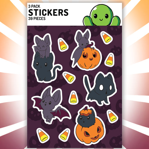 Bats & Cats Stickers