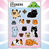 Cats Cats Cats Stickers TeeTurtle