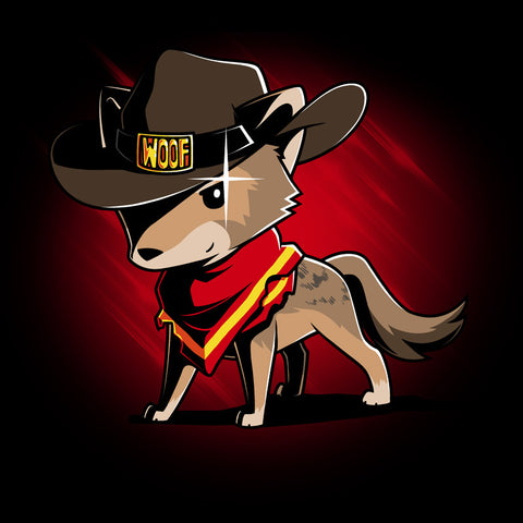 Cowboy Coyote T-Shirt TeeTurtle