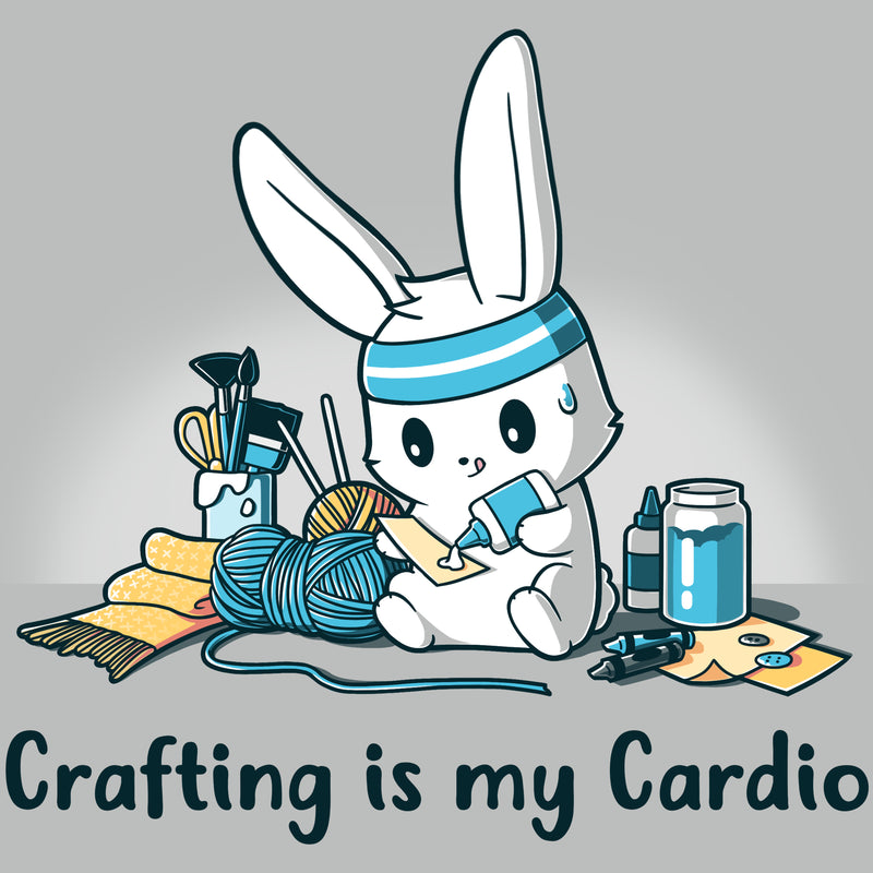 Crafting Is My Cardio T-Shirt TeeTurtle