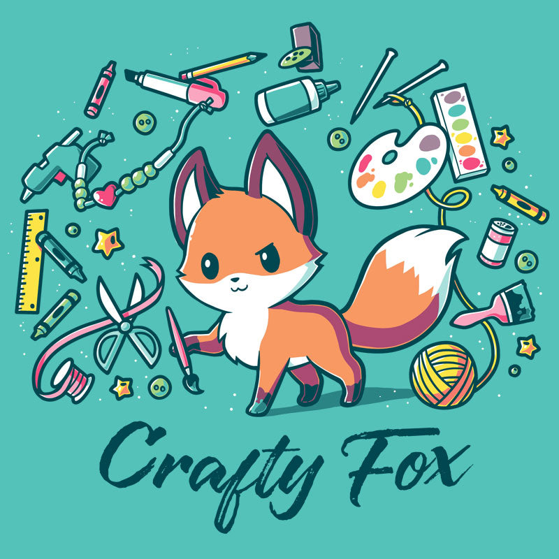 Crafty Fox T-Shirt TeeTurtle