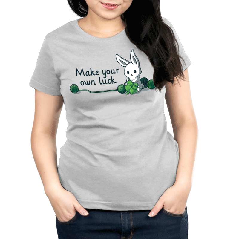 Crochet Your Own Luck Women's T-Shirt Model TeeTurtle