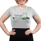 Crochet Your Own Luck Juniors T-Shirt Model TeeTurtle