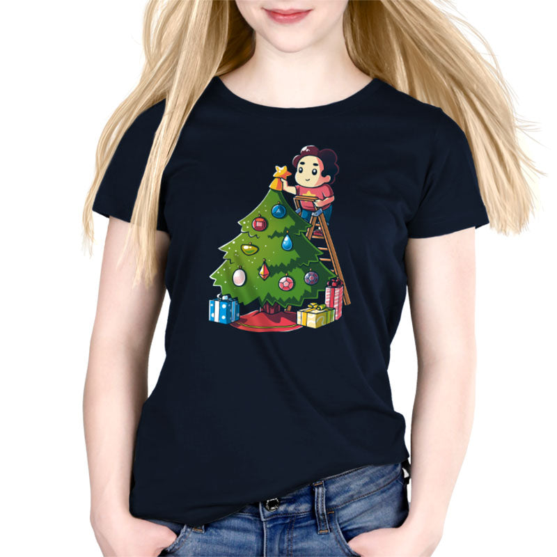 Crystal Gem Christmas Women's Relaxed Fit T-Shirt Model Steven Universe TeeTurtle