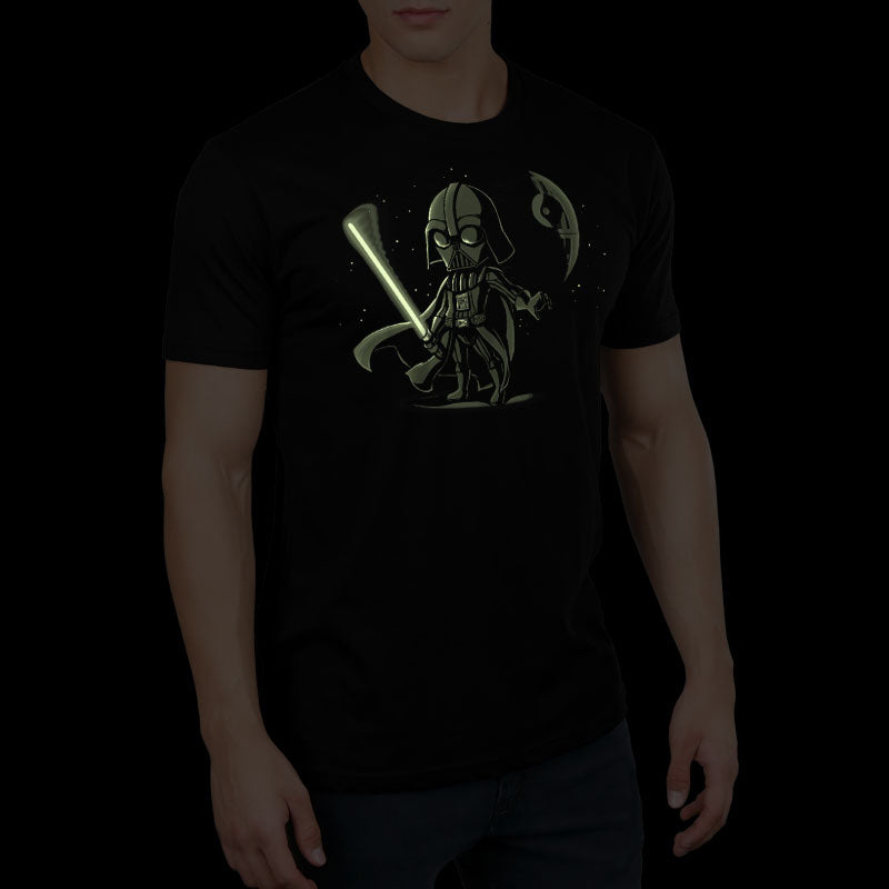 Lightsaber Glow (Darth Vader) standard t-shirt model Star Wars TeeTurtle