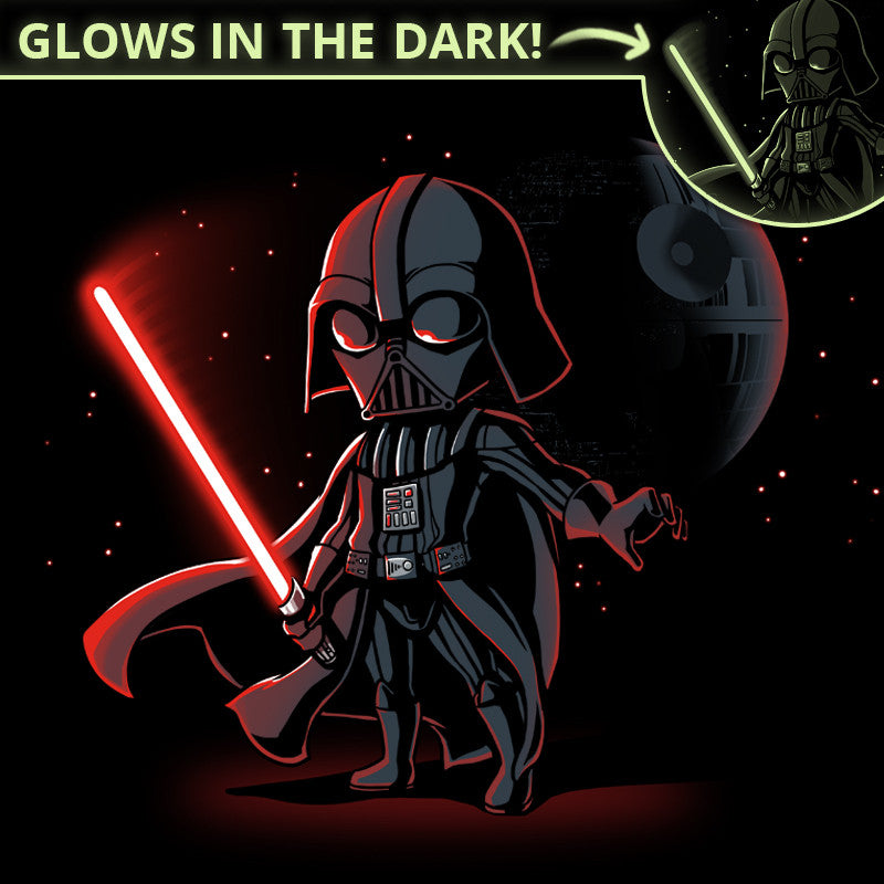 Lightsaber Glow (Darth Vader) t-shirt Star Wars TeeTurtle