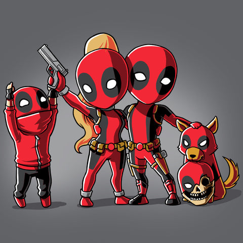 Deadpool Family Portrait t-shirt Marvel TeeTurtle