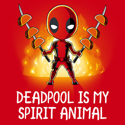 Deadpool is My Spirit Animal t-shirt Marvel TeeTurtle