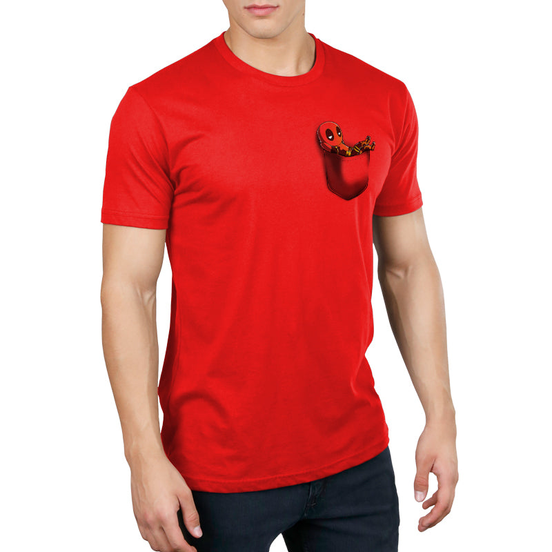 Deadpool Pocket Standard t-shirt model TeeTurtle