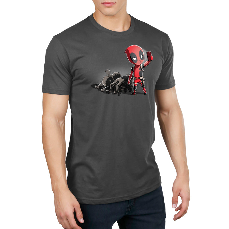 Deadpool Selfie! Standard T-Shirt Model Marvel TeeTurtle