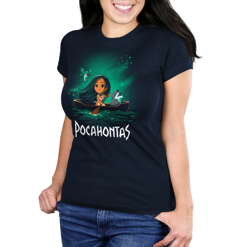 Disney Pocahontas Juniors T-Shirt Model Disney TeeTurtle