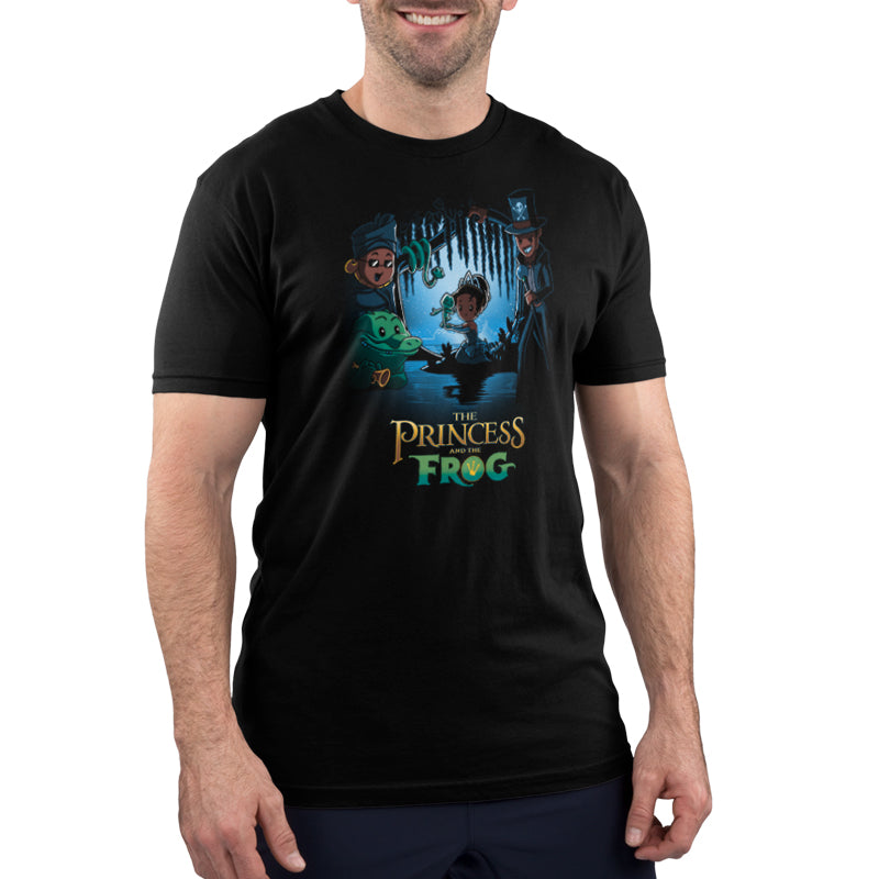Disney The Princess and the Frog Men's T-Shirt Model Disney TeeTurtle