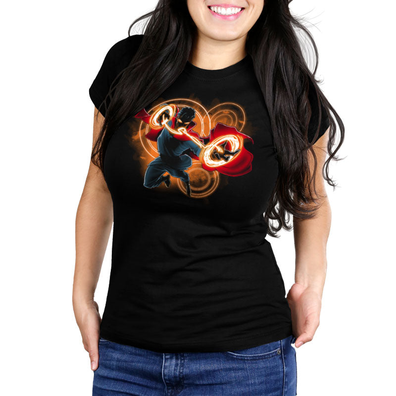 Sorcerer Supreme Women's Ultra Slim T-Shirt model Marvel TeeTurtle