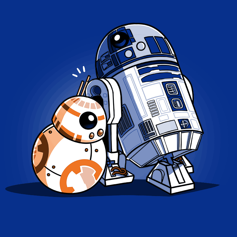 Droid Hug T-Shirt Star Wars TeeTurtle