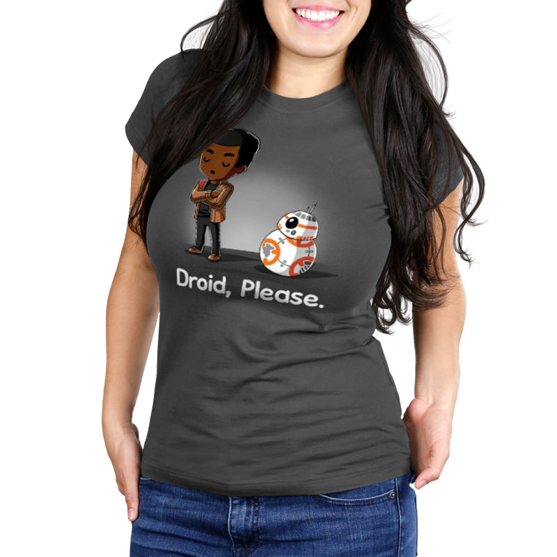 Droid, Please Women's Ultra Slim t-shirt model Star Wars TeeTurtle