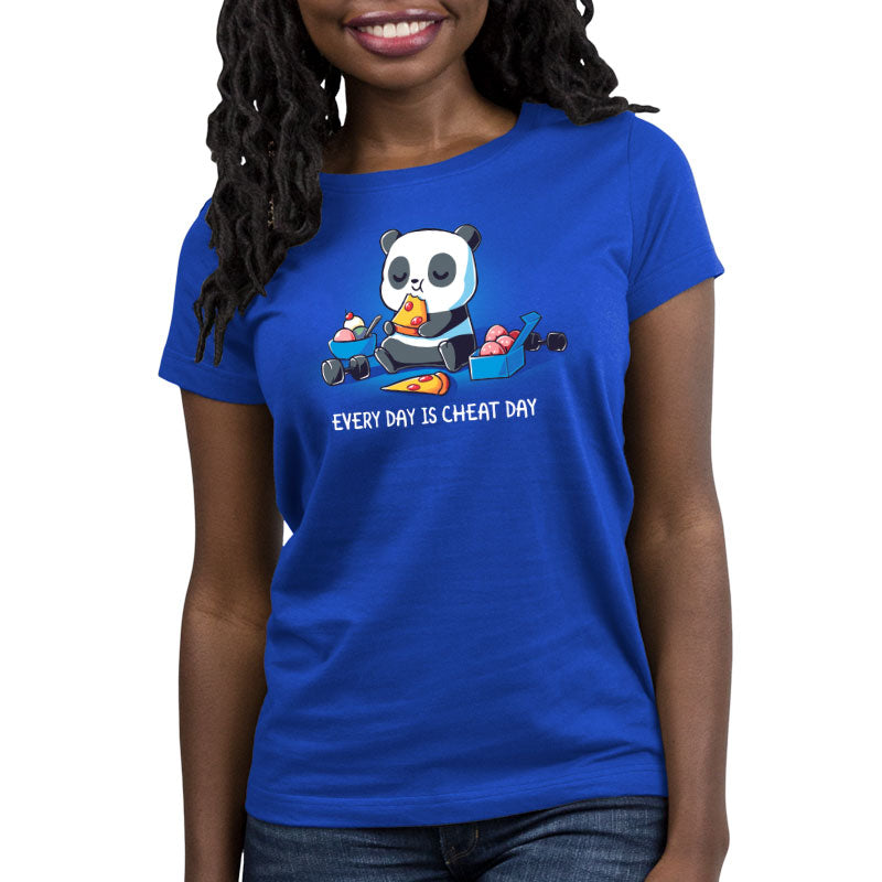 Every Day Is Cheat Day Women's Relaxed Fit T-Shirt Model TeeTurtle