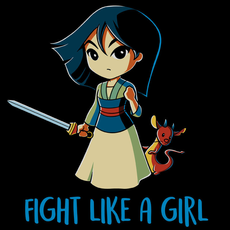 Fight Like a Girl (Mulan) T-Shirt Disney TeeTurtle