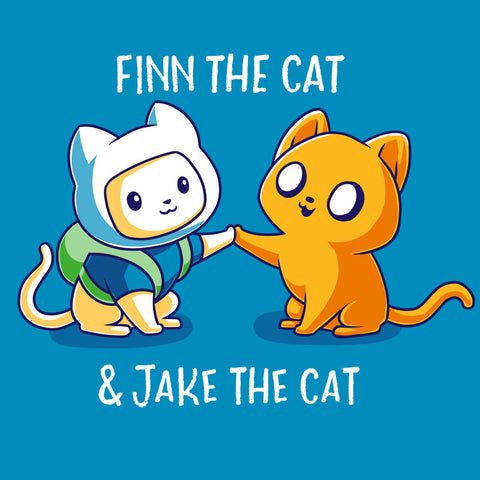 Finn the Cat & Jake the Cat T-Shirt Adventure Time TeeTurtle