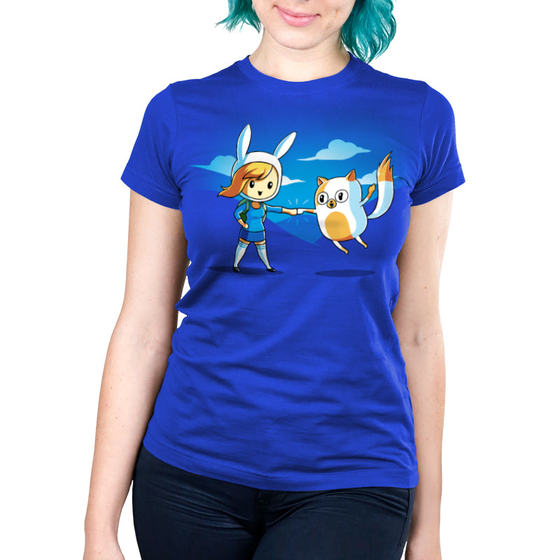 Fist Bump! Women's Ultra Slim T-Shirt Model Adventure Time TeeTurtle