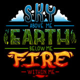 Fire Within Me t-shirt TeeTurtle
