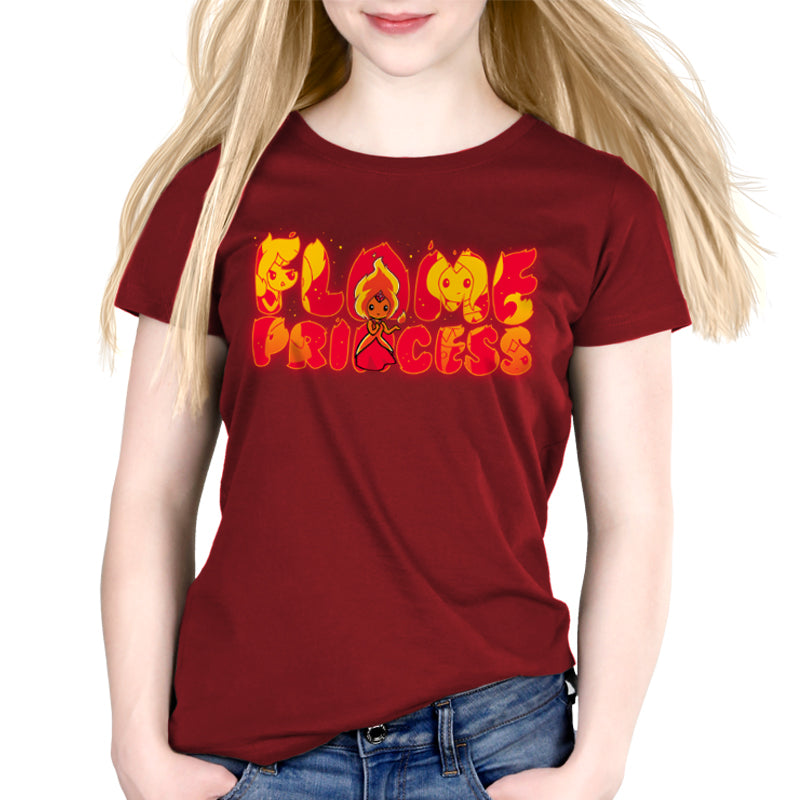 Fiery Temper Women's Relaxed t-shirt model Adventure Time TeeTurtle