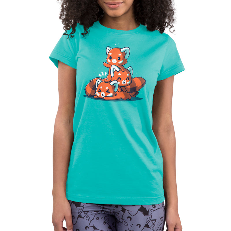 Fluffy Red Pandas Juniors T-Shirt Model TeeTurtle