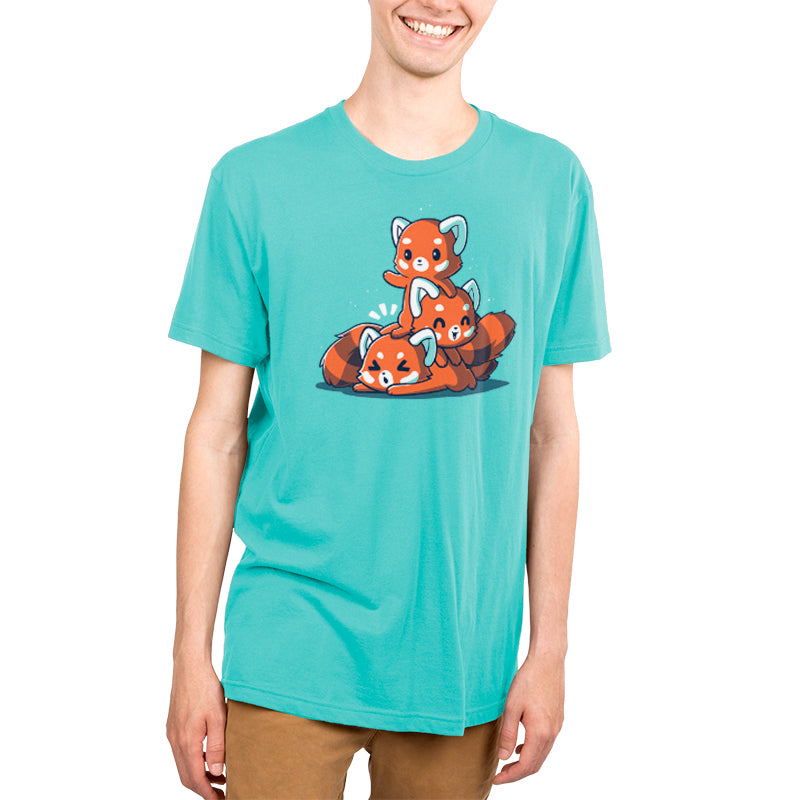 Fluffy Red Pandas Men's T-Shirt Model TeeTurtle