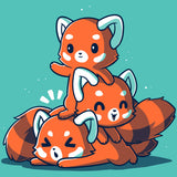 Fluffy Red Pandas T-Shirt TeeTurtle