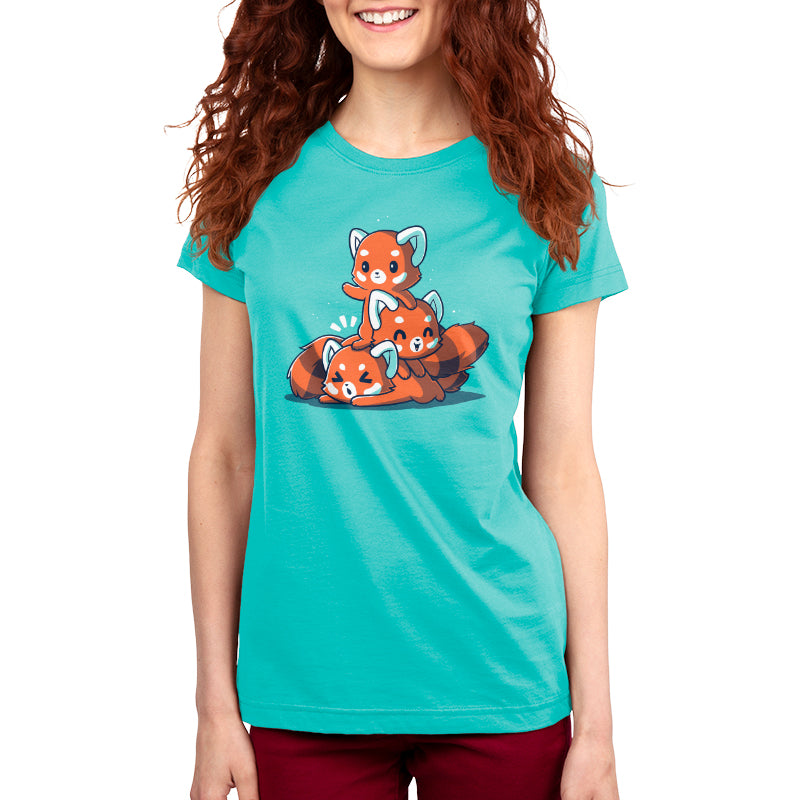 Fluffy Red Pandas Women's T-Shirt Model TeeTurtle