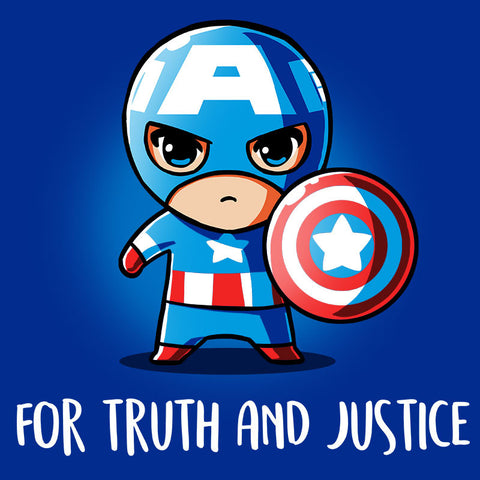 For Truth and Justice T-Shirt Marvel TeeTurtle