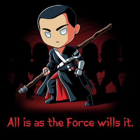 All Is As The Force Wills It t-shirt Star Wars TeeTurtle