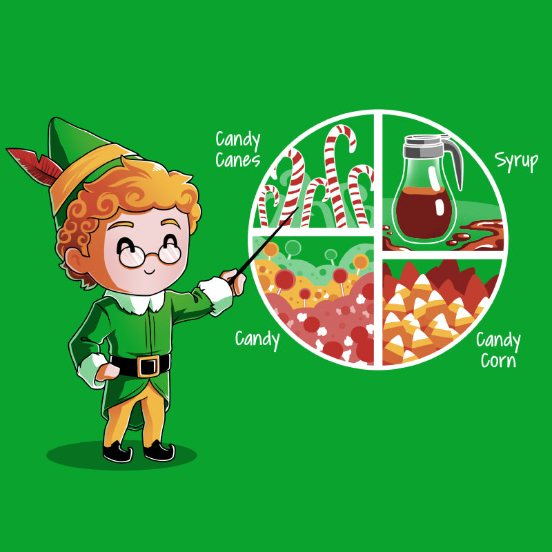 Buddy The Elf Four Main Food Groups T Shirt Official Elf Tee