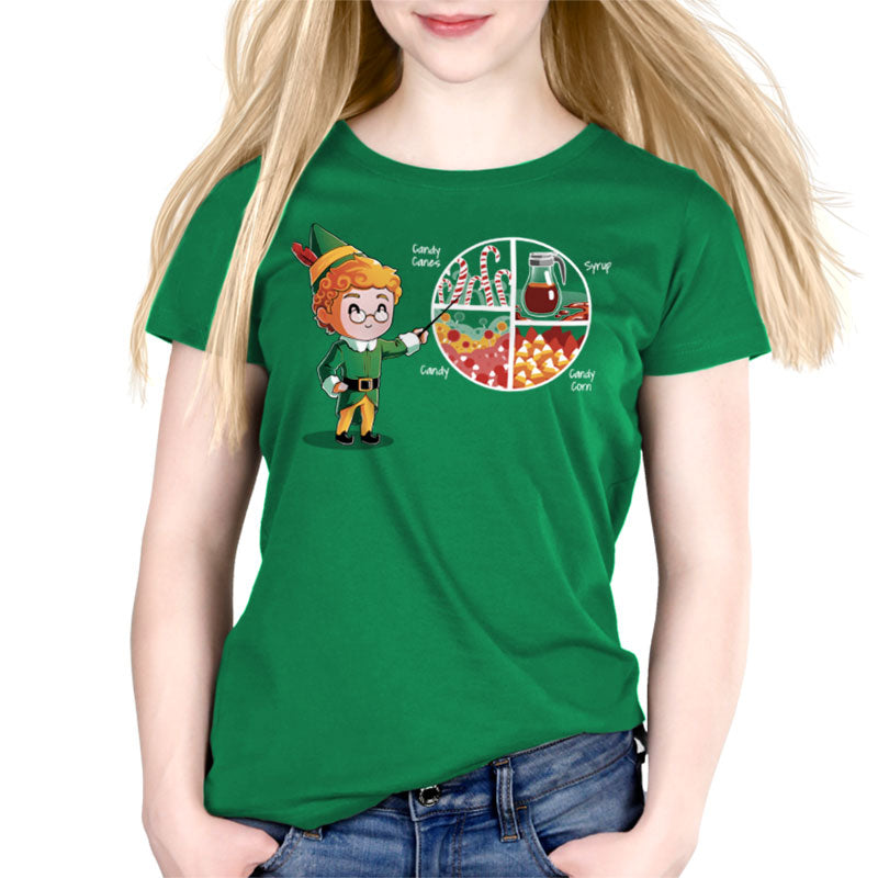 Four Main Food Groups Womens Relaxed Fit T Shirt Model Elf Teeturtle