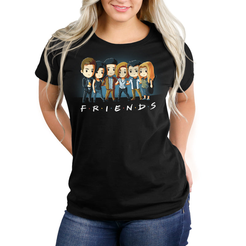 Friends Forever Women's Relaxed Fit t-shirt model Friends TeeTurtle