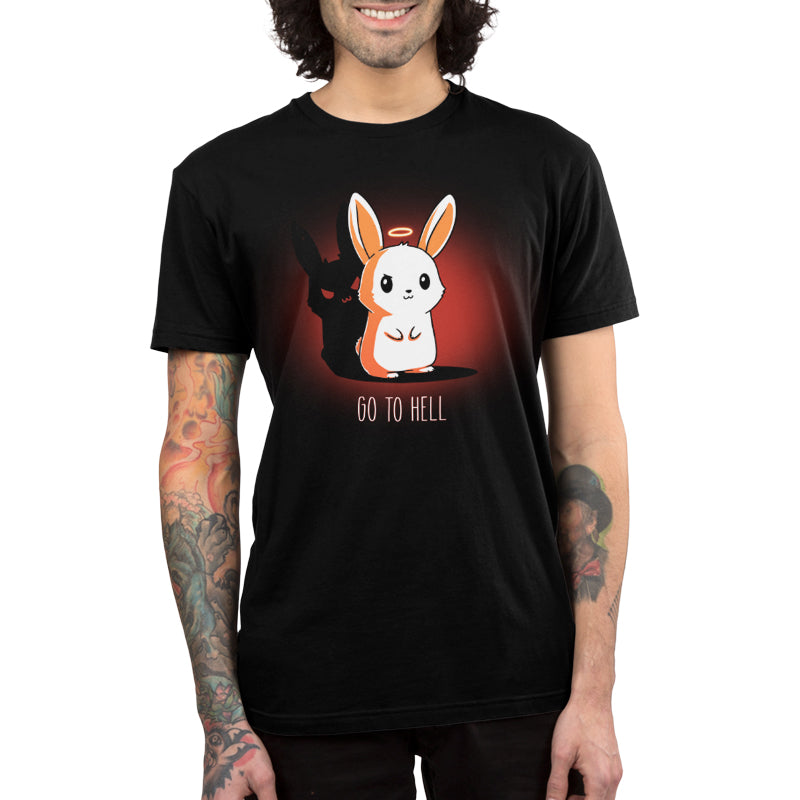 Go To Hell Men's T-Shirt Model TeeTurtle