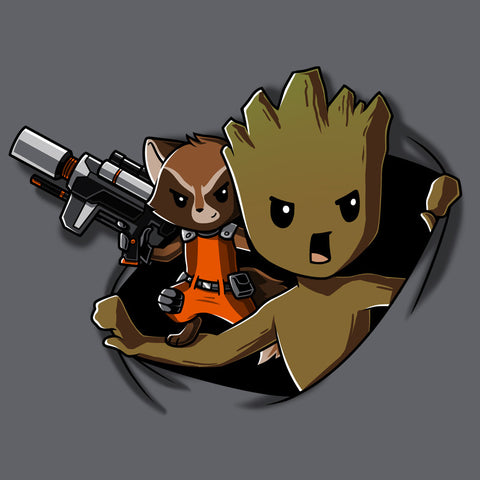 Groot Breakthrough T-Shirt Marvel TeeTurtle