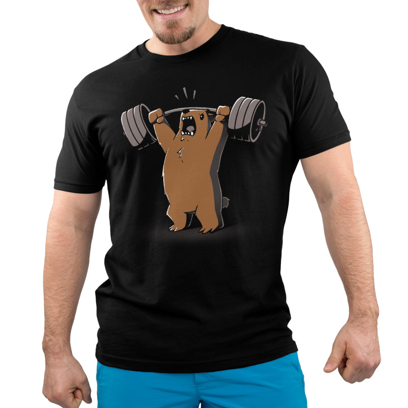 Gym Bear Men's T-Shirt Model TeeTurtle