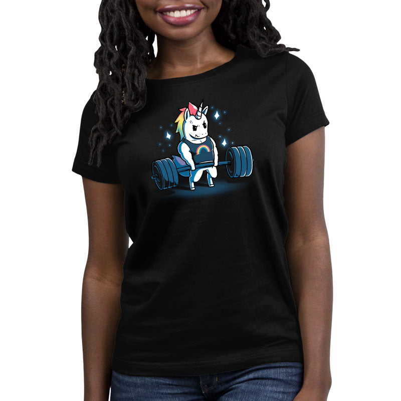 Gym Unicorn Women's Relaxed Fit T-Shirt Model TeeTurtle